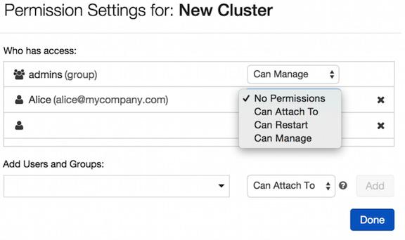 Figure 1.39 – Managing cluster permissions