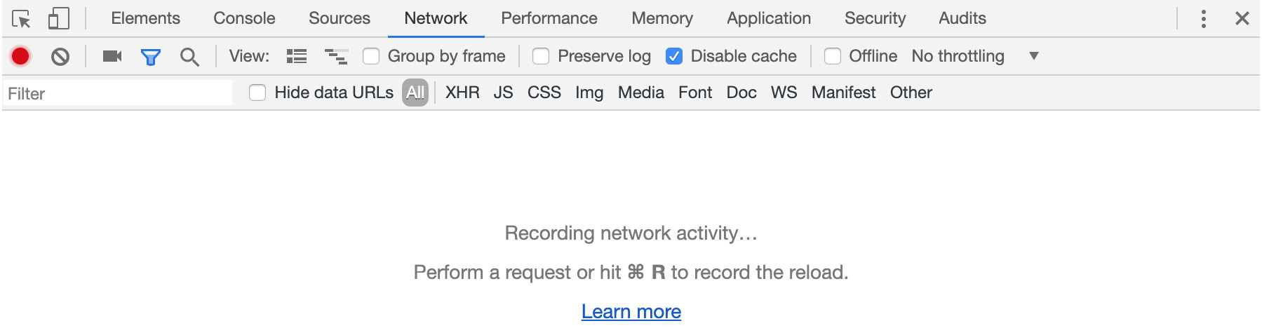 Figure 1.5: Google Chrome DevTools panel when open