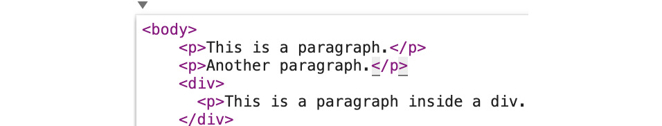 Figure 1.11: Add a new paragraph in the body of the HTML