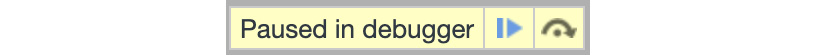 Figure 1.19: The browser pauses the execution when it hits a breakpoint
