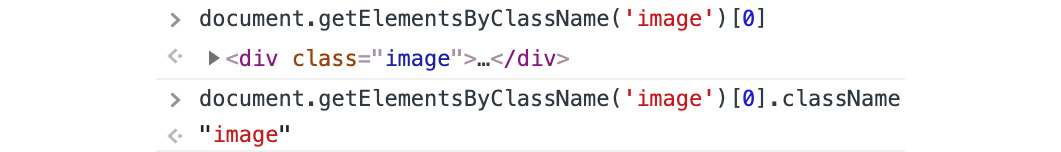 Figure 1.40: className gives access to the classes the element has