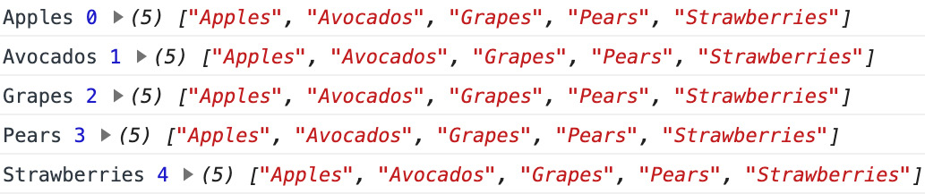 Figure 1.47: Output of the code from the exercise. Prints the names of all organic fruits.