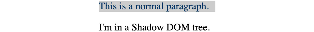 Figure 1.55: Page with the shadow DOM loaded