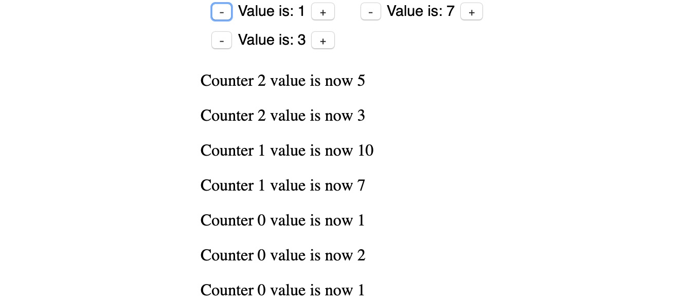 Figure 1.60: Paragraphs added to the page showing that the counters were clicked
