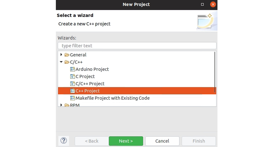 Figure 1.8: New Project dialog box
