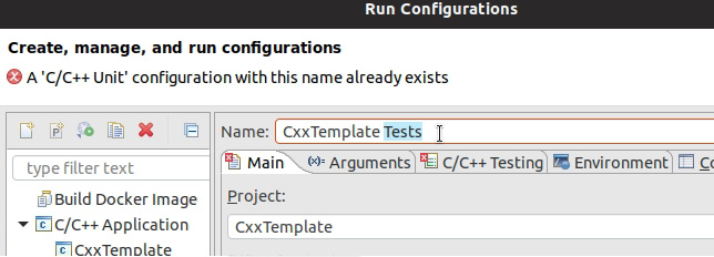 Figure 1.25: Changing the name of the run configuration