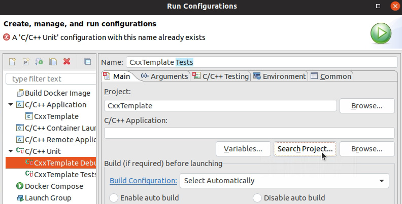 Figure 1.26: Run Configurations