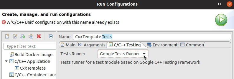 Figure 1.28: Run Configurations