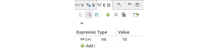 Figure 1.52: Expression view with a new expression