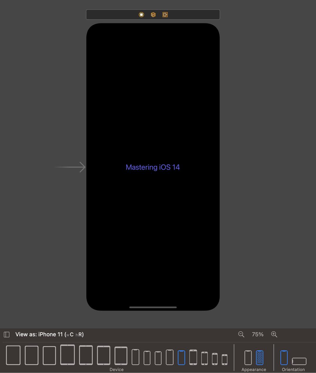Figure 2.12 – Dark mode with indigo text color