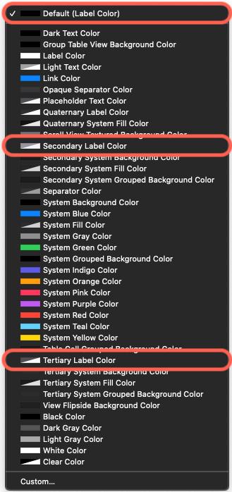 Figure 2.14 – Color options