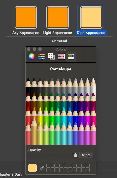 Figure 2.22 – Default label color