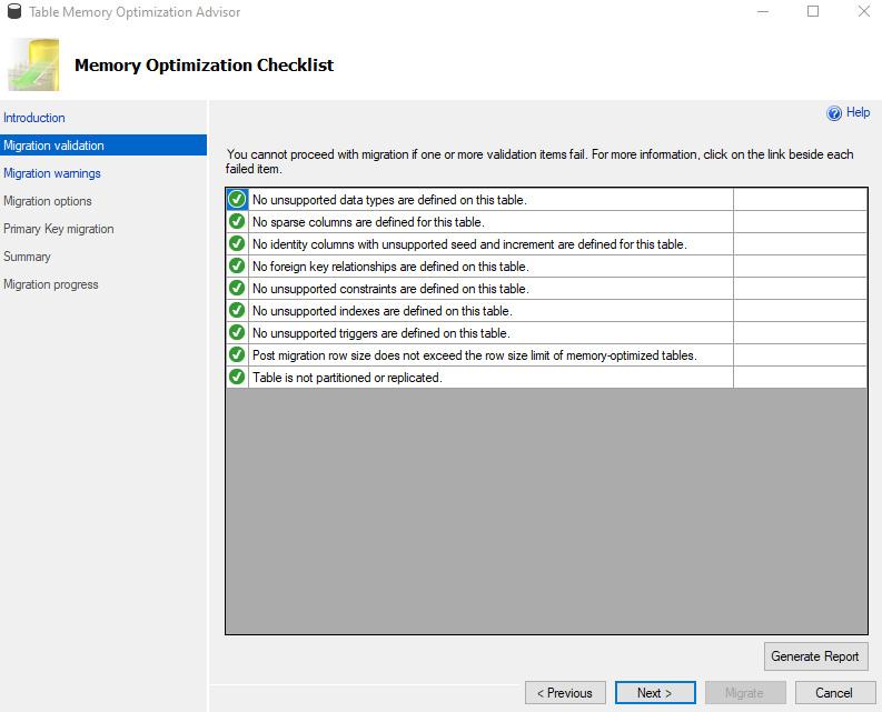 Figure 1.7: Memory Optimization Checklist