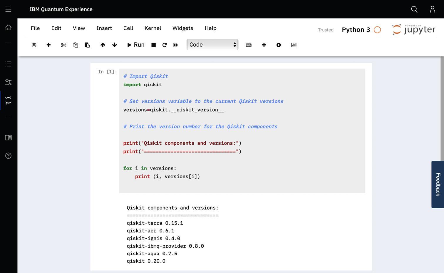 Figure 1.3 – Running your Qiskit® code on IBM Quantum Experience®