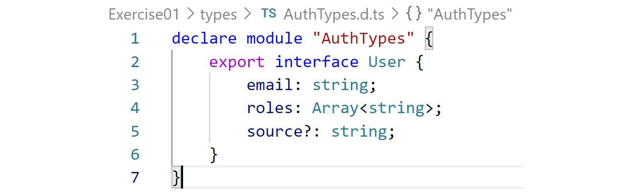 Figure 2.5: AuthTypes interface