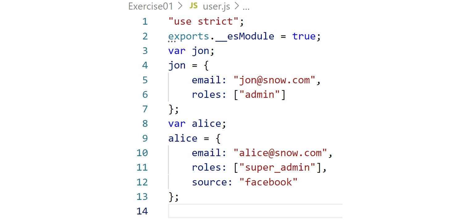 Figure 2.7: Declaration file rules not added to the generated JavaScript code