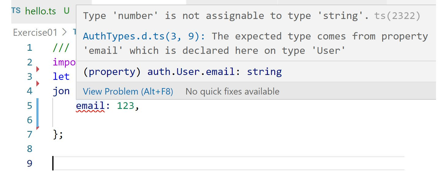 Figure 2.8: TypeScript showing the required data types for an object