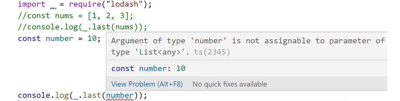 Figure 2.16: IntelliSense revealing the correct type to use with the last function