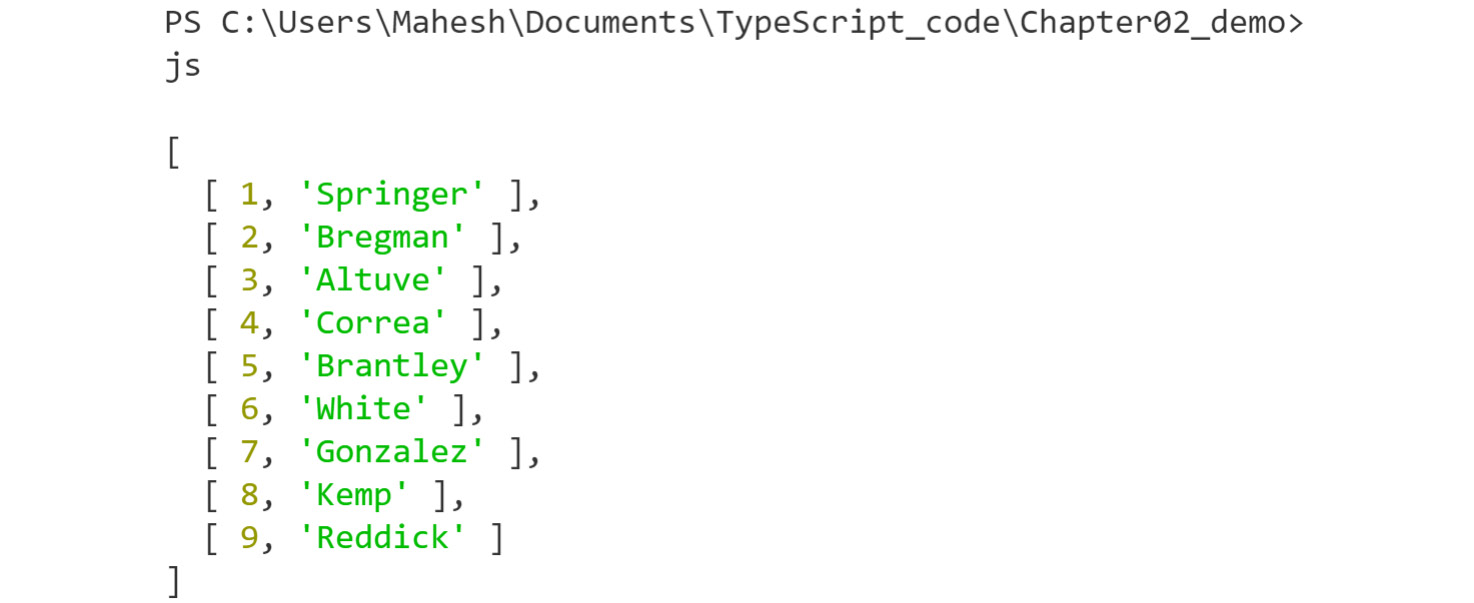 Figure 2.18: Running the zip function properly from lodash