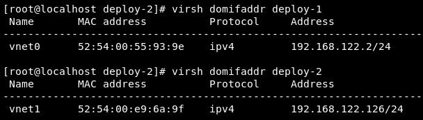 Figure 9.18 – Check the virtual machine IP addresses
