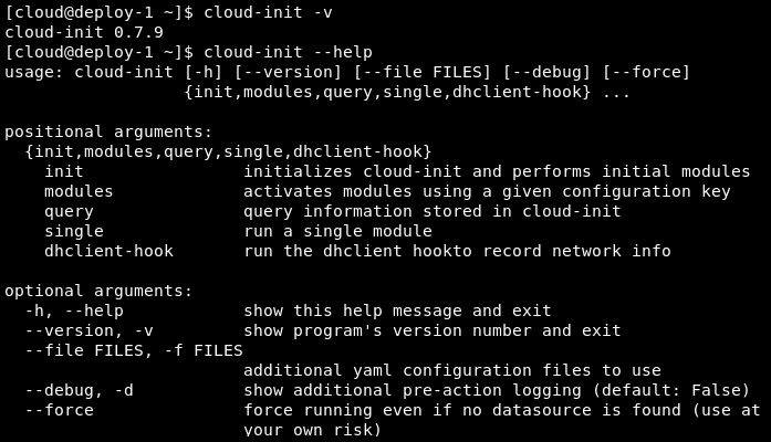 Figure 9.28 – Cloud-init features on CentOS