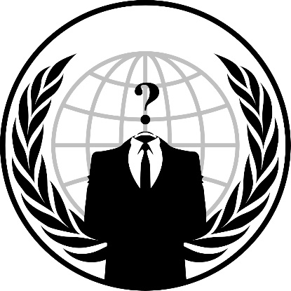 Figure 1.6 – Emblem associated with Anonymous