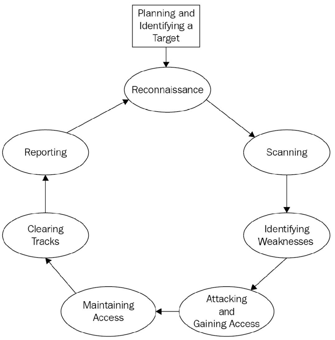 Figure 1.7 – Hacking steps