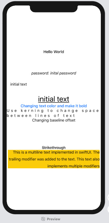 Figure 1.4 – FormattedText preview
