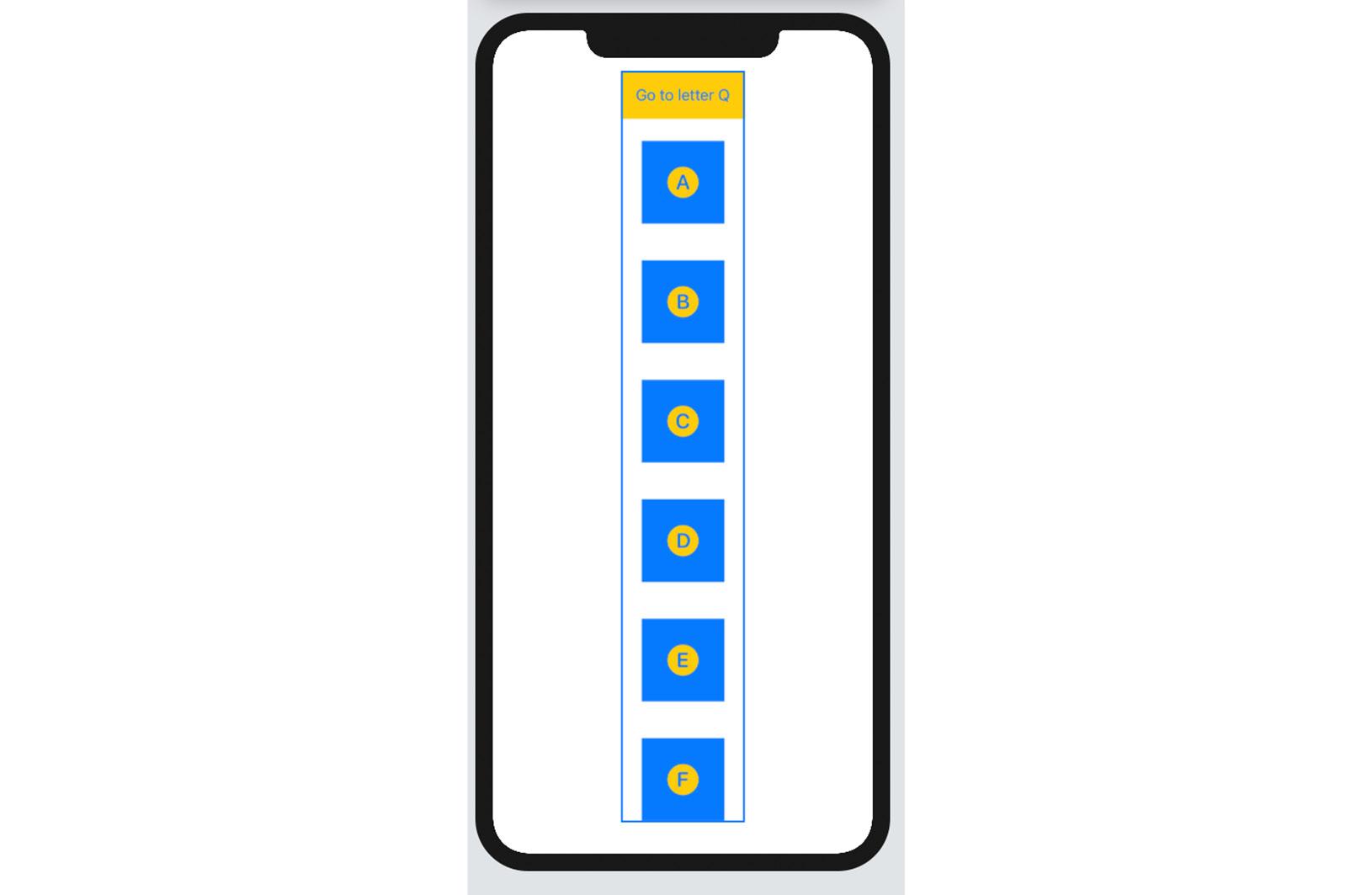 Figure 2.15 – The UsingScrollViewReader app