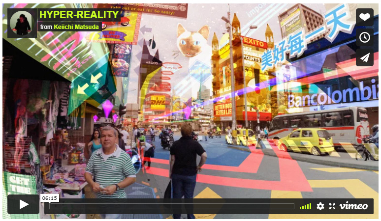 Figure 1.1 – Hyper-Reality video by Keiichi Matsuda (used with permission)