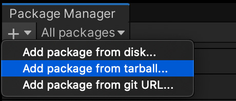 Figure 1.13 – Adding a tarball package