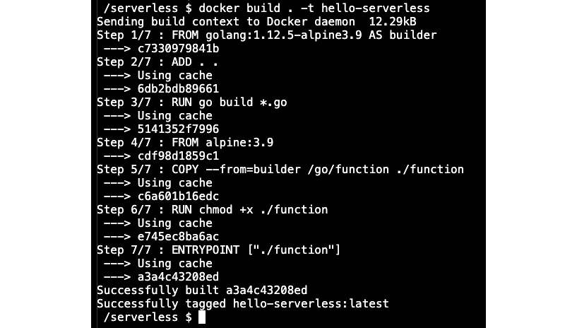 Figure 1.14: The build of the Docker container