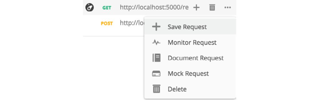 Figure 1.11: Saving the request