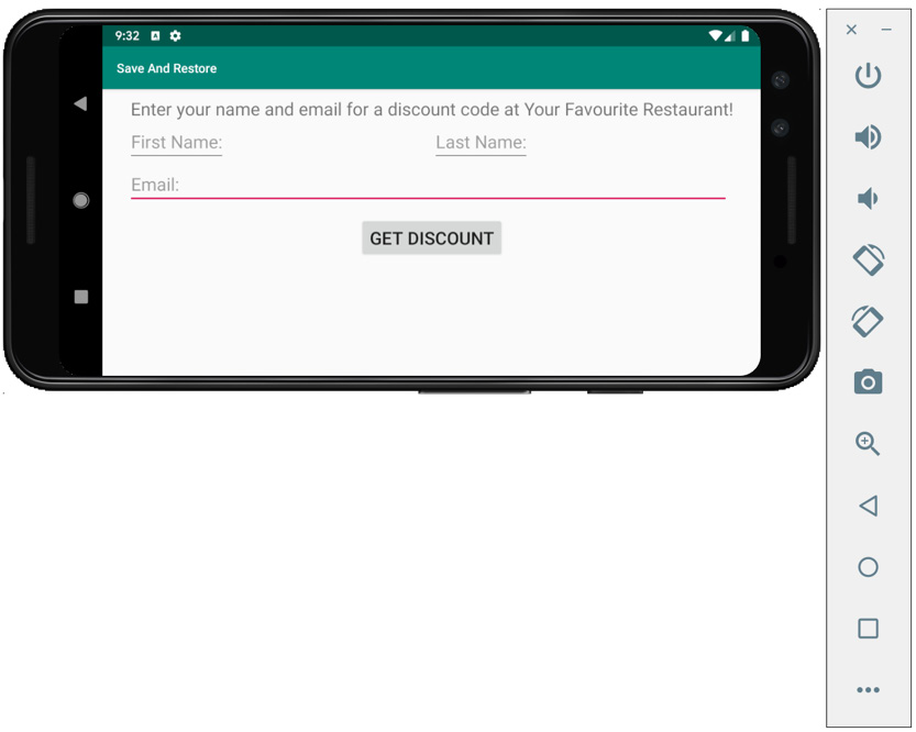 Figure 2.10: Discount code no longer displaying on the screen