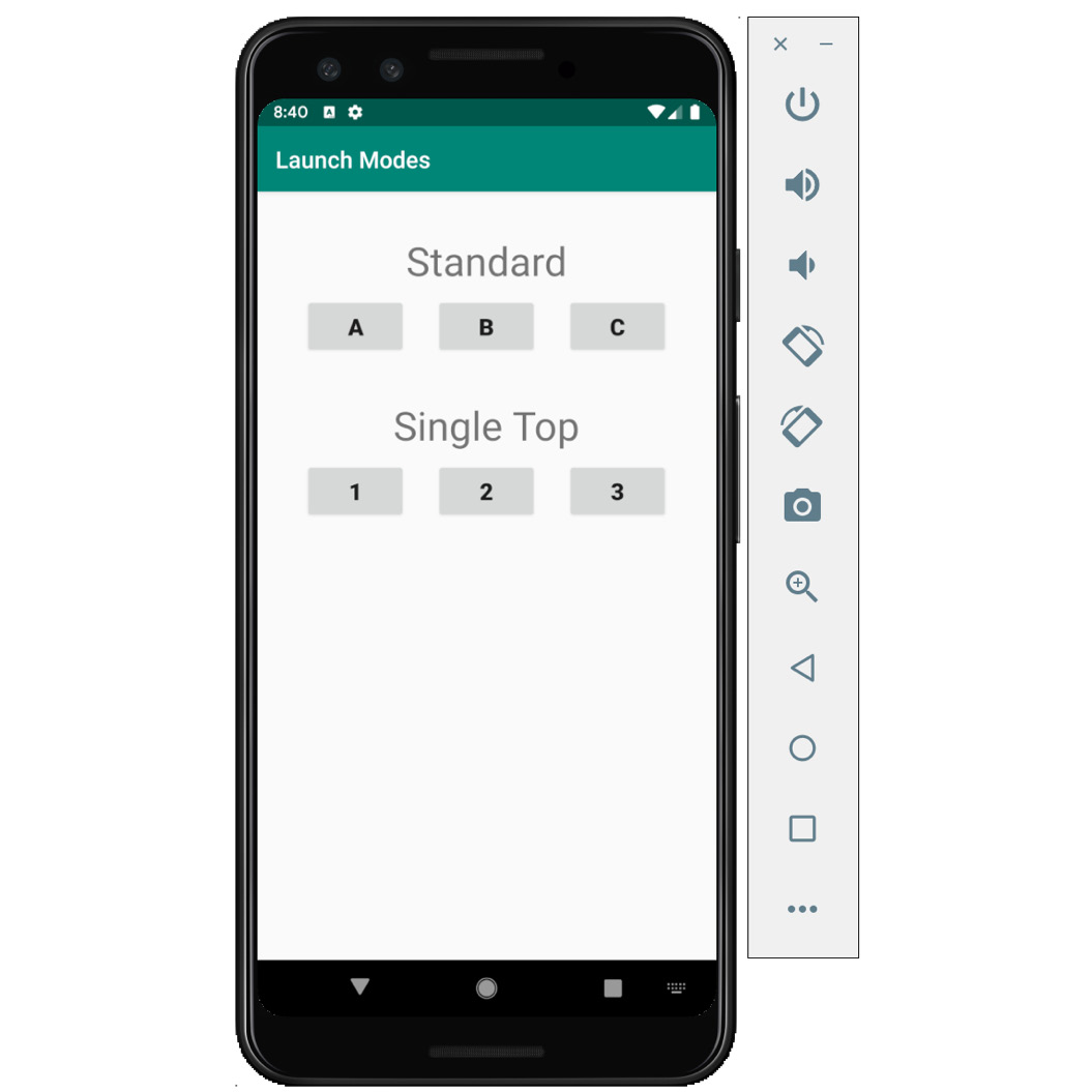 Figure 2.20: App displaying both the standard and single top modes