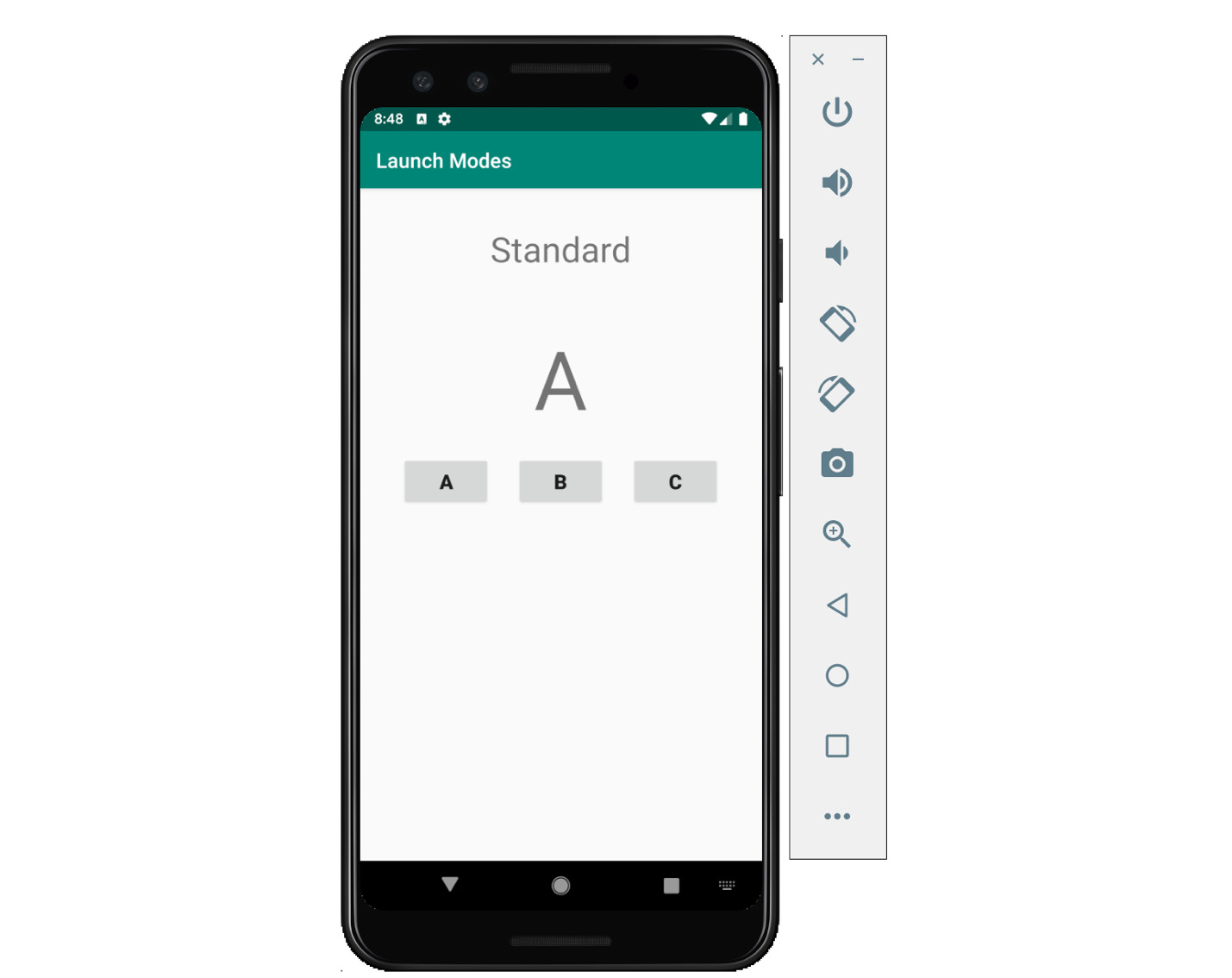 Figure 2.21: The app displaying standard activity