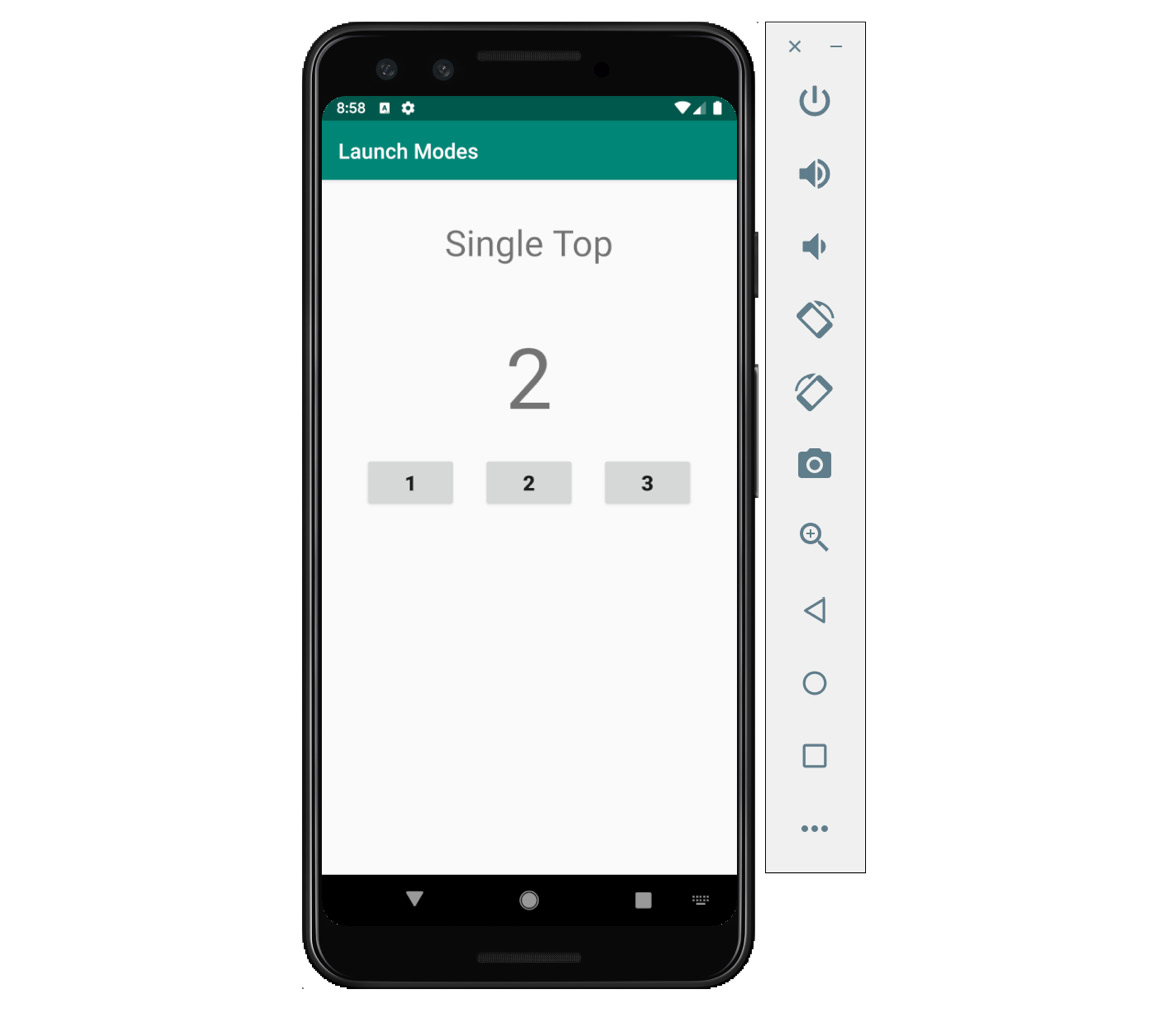 Figure 2.22: The app displaying the Single Top activity