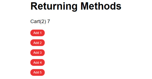 Figure 1.35: Output displaying Returning Methods after increments