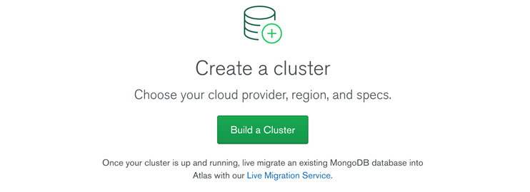 Figure 1.17: Build a Cluster page