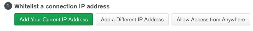 Figure 1.29: Adding your current IP address