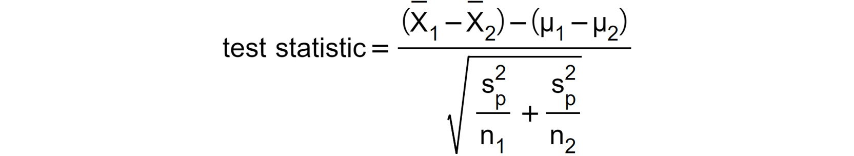 Figure 1.13: Test statistic with the sample means