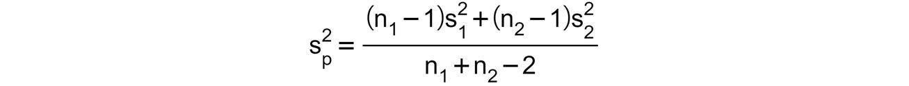 Figure 1.14: Pooled estimator of the common variance