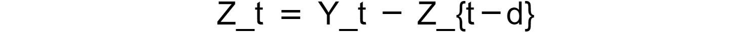 Figure 1.43: Integrating the original time series