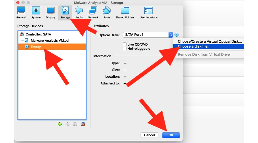 Figure 1.8 – Selecting the virtual optical disk file