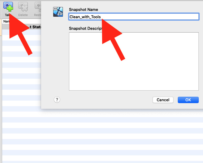 Figure 1.22 – Taking our first snapshot