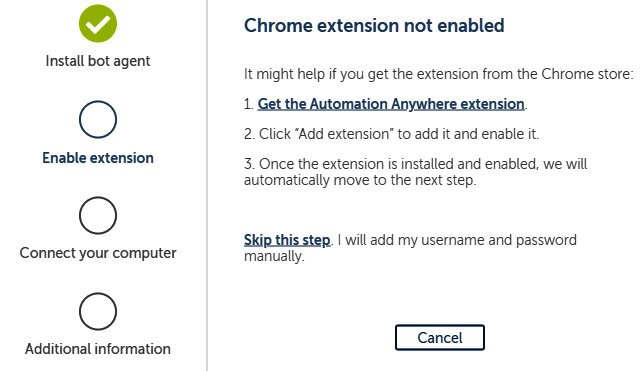 Figure 2.12 – Enabling the extension