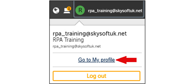 Figure 2.4 – Navigate to your profile details