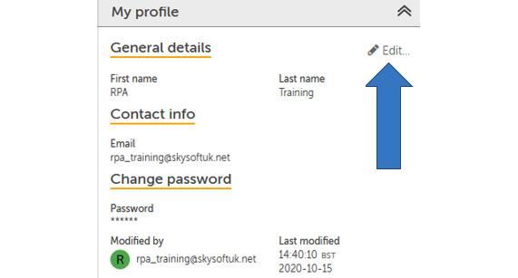 Figure 2.5 – Profile settings page