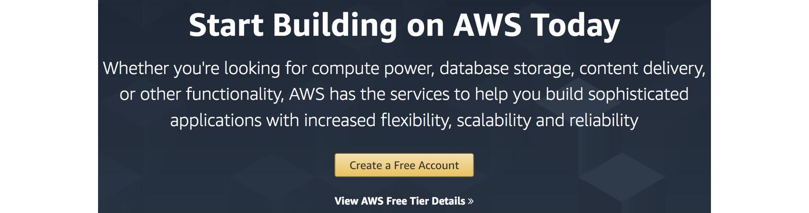 Figure 1.1 – AWS account creation
