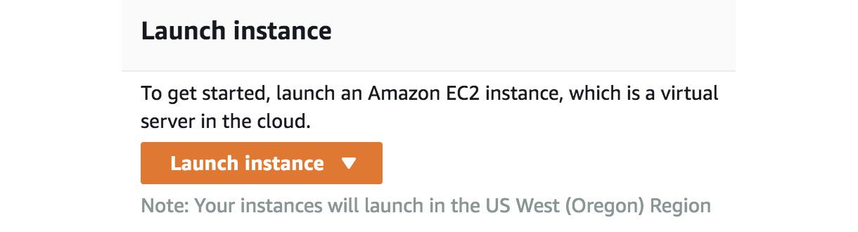Figure 1.5 – EC2 launch